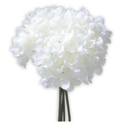 Kunstblume Hortensien Kunstblumen 5 Stk im Bund 25 cm weiß Hortensien, matches21 HOME & HOBBY, Höhe 25 cm, Indoor