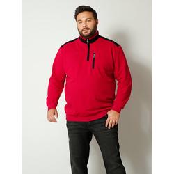 Sweatshirt Men Plus Rot/Schwarz