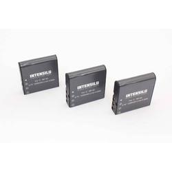 INTENSILO 3 x Li-Ion Akku 1250mAh (3.7V) für Videokamera Camcorder Somikon DVR-853, DVR-853.IR wie NP-40, PAC-0040.