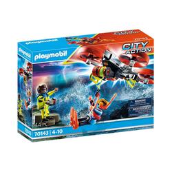 Playmobil® Spielfigur PLAYMOBIL® 70143 Seenot: Taucher-Bergung mit