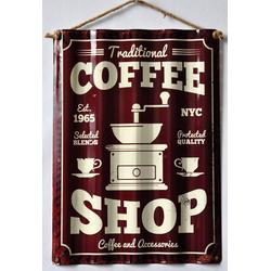 HTI-Line Metallschild Blechschild Coffee, Blechschild