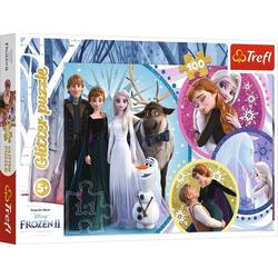 Glitzer Puzzle 100 # Disney Frozen 14817