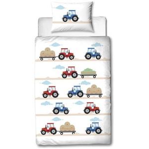 Babybettwäsche Traktor Bettwäsche 100x135 + 40x60 cm 2tlg., 100 % Baumwolle in Flanell, soft und kuschelweich für Babys und Kinder, Traumhelden, MTOnlinehandel