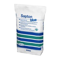 ECOLAB Sapton blue Vollwaschmittel, Biologische Wirksamkeit durch Enzyme für weiße und bunte Wäsche, 20 kg - Sack