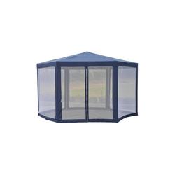 Outsunny Pavillon Pavillon in sechseckiger Form blau