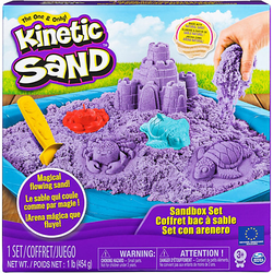 Kinetic Sand Sand Box Set lila