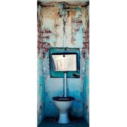 LIVINGWALLS Fototapete Türtapete 2.0 Motiv WC bunt
