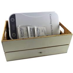 HostelNovo - Kit con Esterilizador de móvil + toallitas desinfectantes + caja vintage –Funciona con luz ultravioleta – Medidas: 22,5 x 12.5 x 4.2 cm