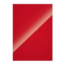 100 Fellowes Rückwände für Bindemappen Chromolux rot