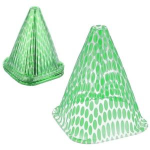 relaxdays Anzuchtdeckel Grüner Pflanzenhut 24 Stück