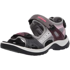 ECCO Damen OFFROAD Flat Sandal, Mehrfarbig (MULTICOLOR WINE), 42 EU