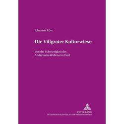 Die Villgrater Kulturwiese als Buch von Johannes Eder