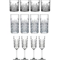 van Well Gläser-Set Timeless (12-tlg), Strukturglas