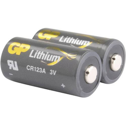 GP Batteries CR123A Fotobatterie CR-123A Lithium 1400 mAh 3V 2St.