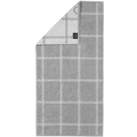CAWÖ Two-Tone Grafik 604 Handtuch 50 x 100 cm platin