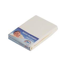 Alvi® Laufgitter Spannbettlaken, Jersey, weiß, 70 x 100 cm