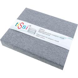 Spannbettlaken Jersey Laufstall, tiSsi®, für Laufgitter grau