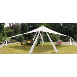Leco Sonnensegel, XL Leco Alu Pavillon Sonnensegel 10x7m Garten Terrasse Überdachung Sonnenschutz