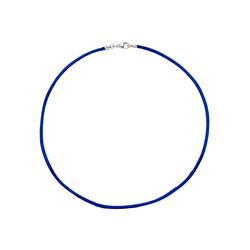 JOBO Kette ohne Anhänger, Seidenkette blau 42 cm 2,8 mm