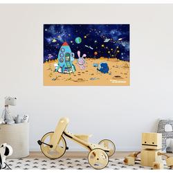 Posterlounge Wandbild, Die Mondlandung 80 cm x 60 cm