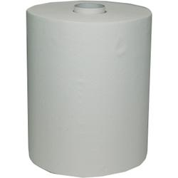 Papierhandtuchrolle Basic, 2-lagig, Handtuchpapier aus Zellstoff, 1 Karton = 6 Rollen à 140 m