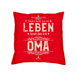 Soreso® Dekokissen Kissen Heute bin ich Oma & Urkunde, Geschenk Geburtstagsgeschenk rot
