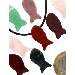 Adelia´s Kettenanhänger Jaspis rot Anhänger Fisch