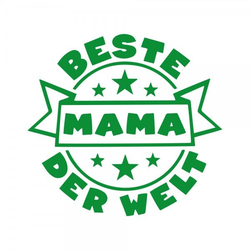 Muttertag Holzstempel - Beste Mama der Welt (Ø 40 mm)