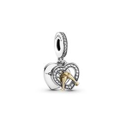 Pandora Kettenanhänger Pandora Anhänger Silber mit 585/-Gelbgold