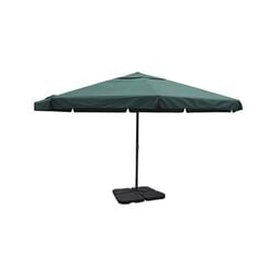 Sonnenschirm Aluminium grün mit Schirmständer