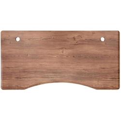 FLEXISPOT Tischplatte C1407, stabile Tischplatte, DIY Schreibtischplatte Bürotischplatte, Curved Tischplatte, 140 x 70cm, Farbe auswählbar braun