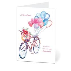 LUMA Geburtstagskarte Fahrrad DIN B6