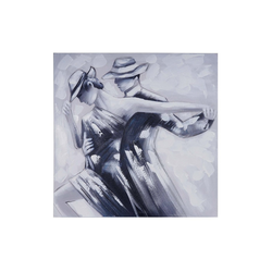 MCW Ölgemälde Wandbild Tanzpaar, Tanzpaar, Handgemalt, Hohe Qualität, Jedes Bild ein Unikat, Ölfarben