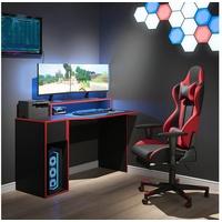 Vicco Gamingtisch Gaming Desk Schreibtisch Kron 130cm Gamer PC Tisch Computertisch Bürotisch