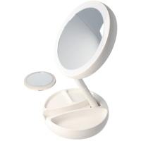 Eazyuse LED Tisch Kosmetikspiegel weiss mit AA Batterien unn inklusive Gratis Handspiegel
