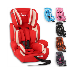 KIDUKU Autokindersitz, Kindersitz 9-36 kg (1-12 Jahre) - Autositz ECE R44/04, Gruppe 1/2/3 Autokindersitz Kinderautositz rot