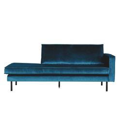 Sofa Recamiere in Blau Samtbezug