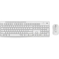 Tastatur RF Wireless QWERTY Spanisch Weiß,