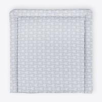 KraftKids Wickelauflage weiße Pfeile auf Grau, Wickelunterlage 85x75 cm x 75 cm