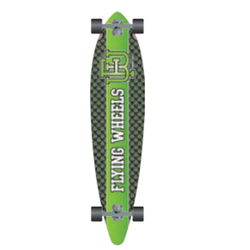 Flying Wheels Downhill Skateboard 43 Varsity Lime skateboard