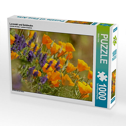 Lavendel und Goldmohn Lege-Größe 64 x 48 cm Foto-Puzzle Bild von Meike Bölts Puzzle