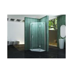 Fünfeck-Duschkabine ELBO 100 x 100 x 195 cm ohne Duschtasse