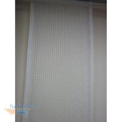 Musterfenster Vorhang Gardine 4 Flächenvorhänge natur braun, fertig genäht
