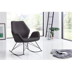 SalesFever Schaukelsessel, mit ergonomischer Sitzfläche grau
