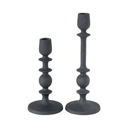 "BOLTZE Kerzenständer 2-tlg. Kerzenständer ""Normes"" H21/29cm schwarz"