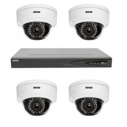 Netzwerk-IP Videoüberwachung Set für Innenbereich 4xIR Netzwerk-Kamera, 4 Kanal IP Netzwerk Rekorder mit PoE -IS-IPKS15
