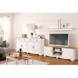 Home affaire Wohnwand Trinidad, (Set, 3-tlg), Set aus 1 Wandboard, 1 Sideboard, 1 Lowboard weiß