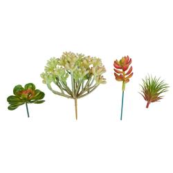 Kunstpflanze Mini-Sukkulente, VBS, groß, 4 Stück