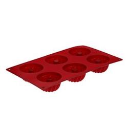 Kitchen Club Silikon Backform - Minigugelhupfform - rot
