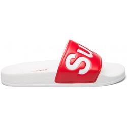 SUPERGA 1908-PUU SLIDES PVC Sandale 2020 white/red - 42